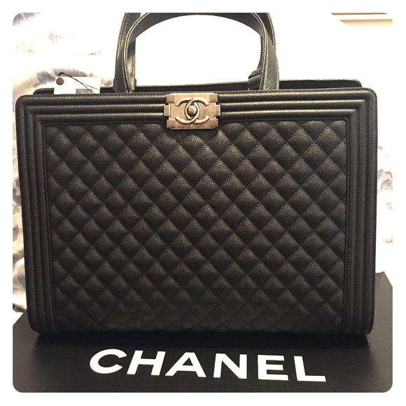 c9c8136fa0c8 CHANEL Bags | Boy Bag Quilted Large Shopper | Poshmark